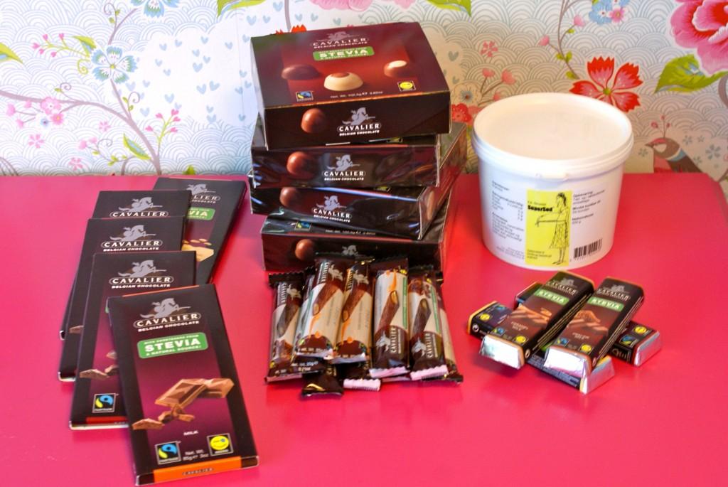 Fyldte chokolader, woodies, chokoladeplader og Supersød.