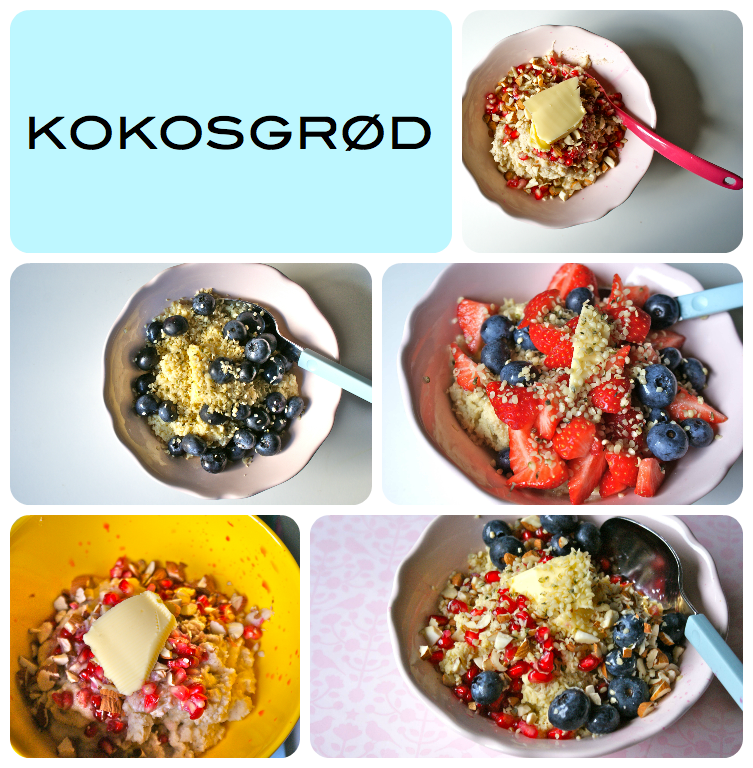 kokosgrød collage